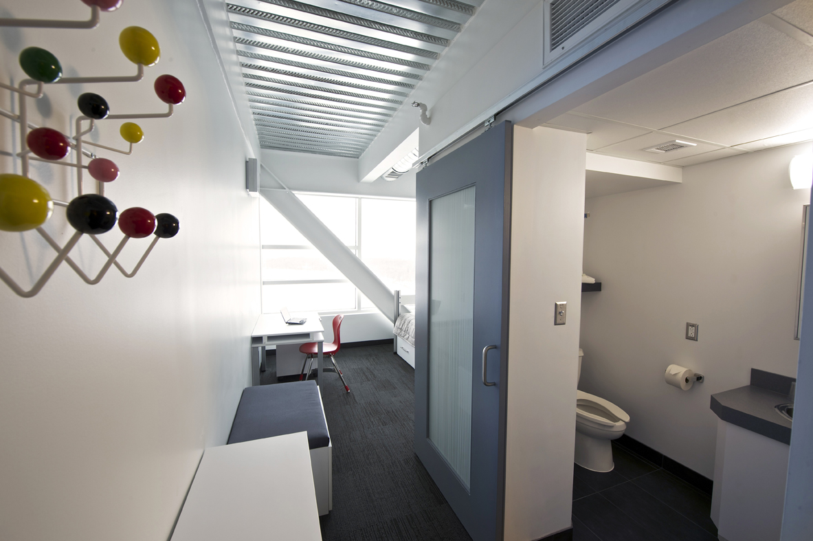 PHR hallway and washroom