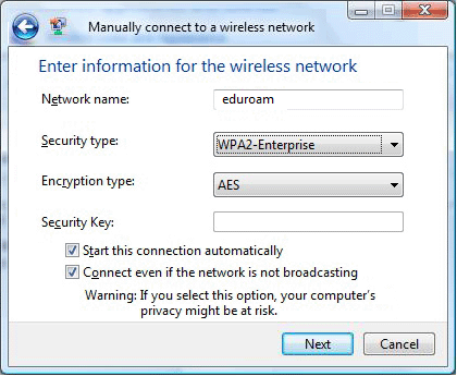 type network security key