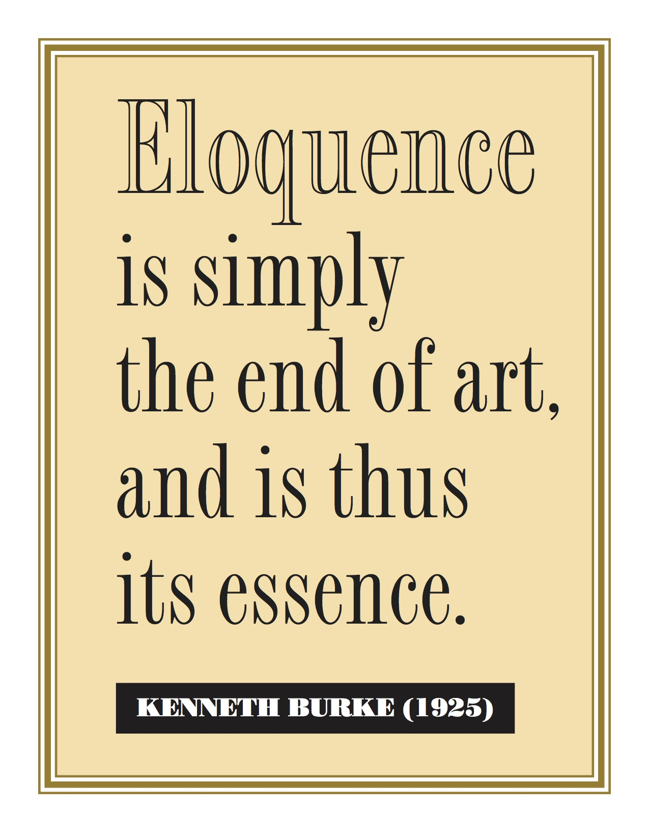 Burke Eloquence Quote