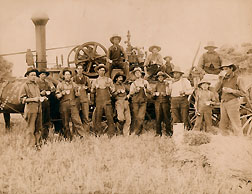 La Salle threshing crew
