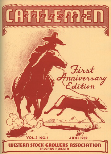 Canadian Cattlemen (1938-1941), front cover, First Anniversary Edition