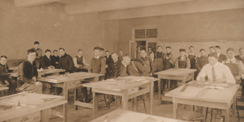 Manitoba Agricultural College classroom