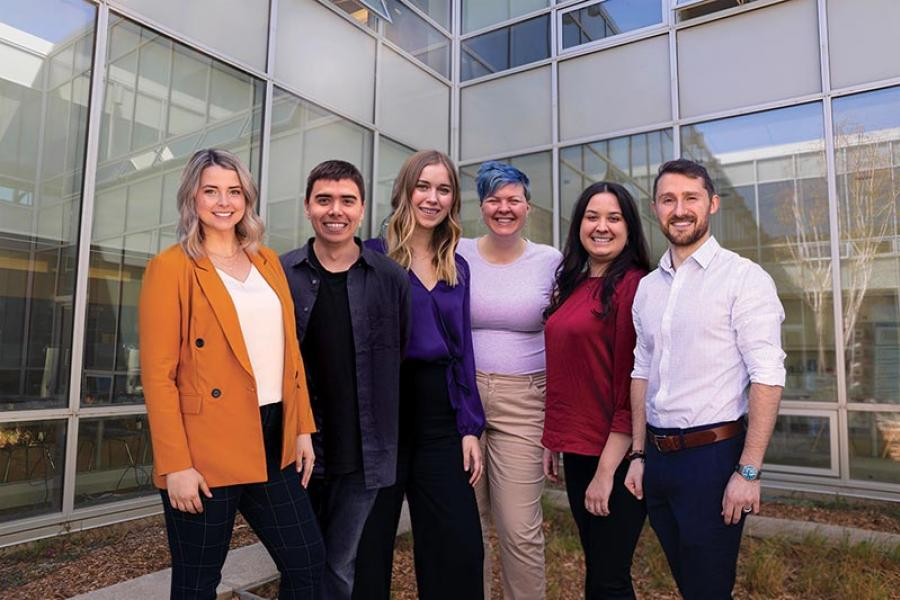 Six University of Manitoba graduate students who are recipients of 2019 Vanier Canada Graduate Scholarships.