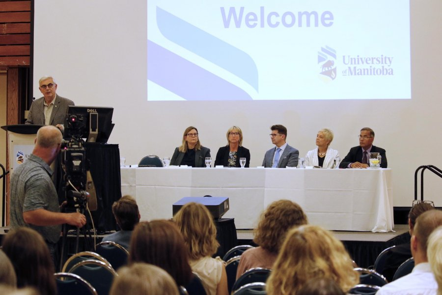 President and executive team host community presentation event on sexual violence