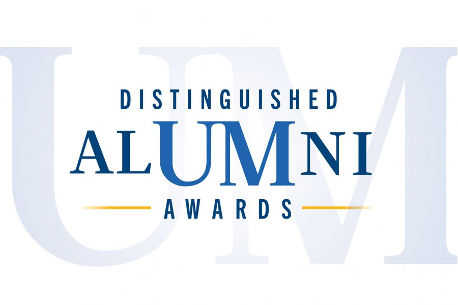 Graphic that says Distinguished Alumni Awards