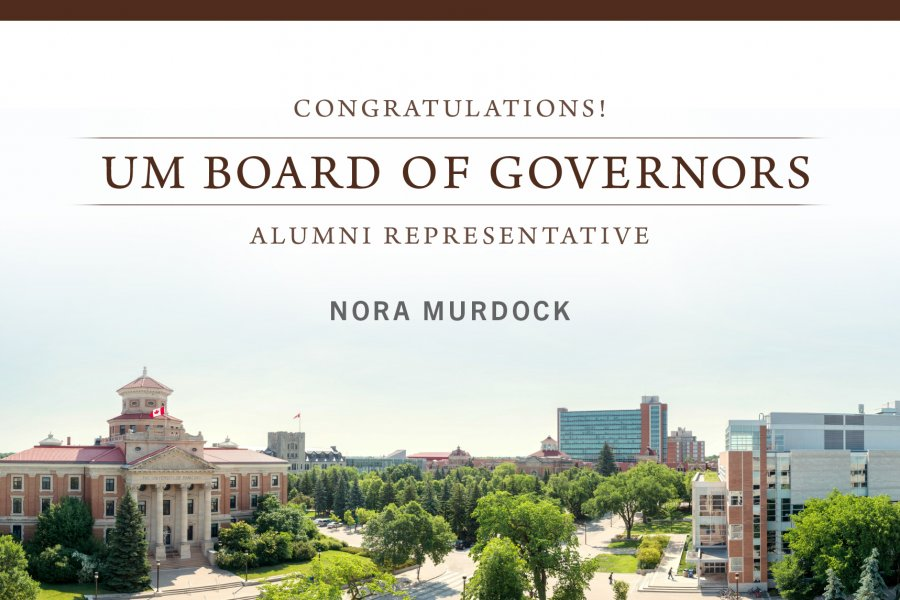 Board of Governors elect Nora Murdock as the 2020 alumni representative