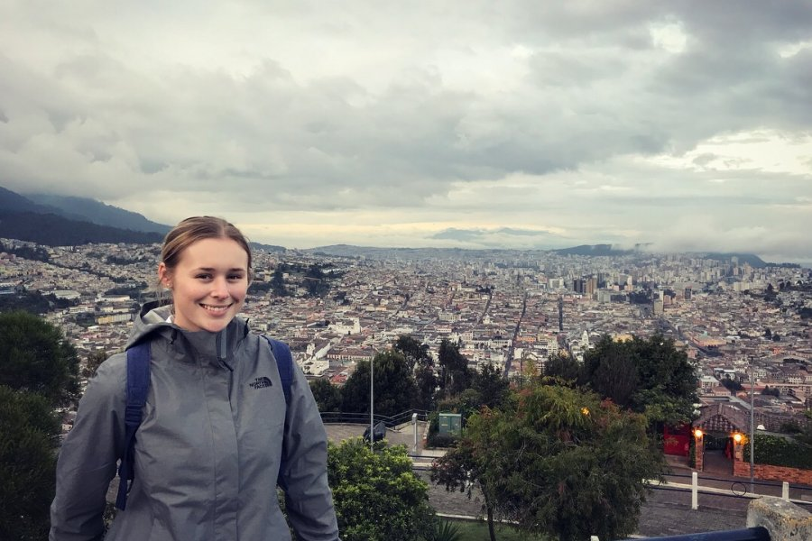 Laura Lucas exploring Ecuador's capital Quito.
