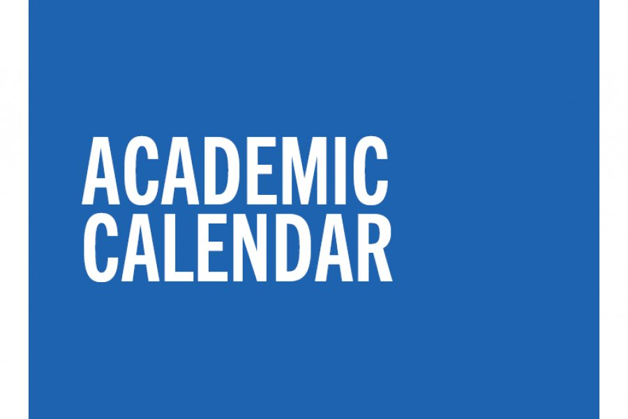 Link to the Online Academic Calendar for the current term