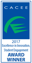 CACEE 2017 Excellence in Innovation, Student Engagement Award Winner Logo