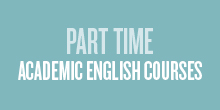 Part time academic English courses